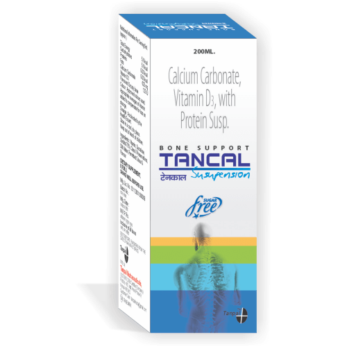 Tancal-Bone-Support-Suspension-Sugar-Free-Calcium-Carbonate-Vitamin-D3-with-Protein-Suspension-Tanpal-Pharmaceuticals-Best-Pharma-PCD-Franchise-Contract-Manufacturing-Company